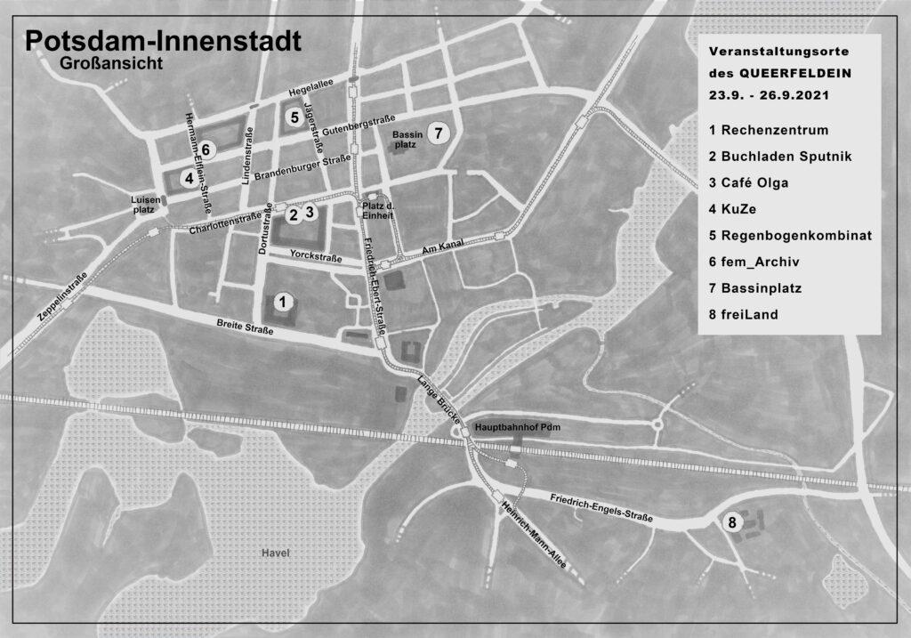 Stadtplan von Potsdam